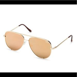 NWT Quay Australia High Key Aviators - Gold/Gold